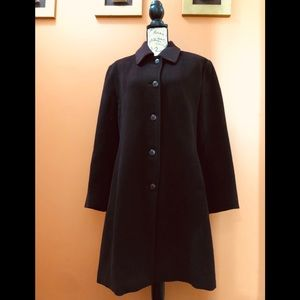 Jones New York Chocolate Brown long coat size 14